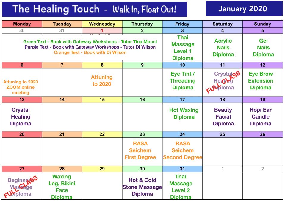 Class Dates Jan 2020