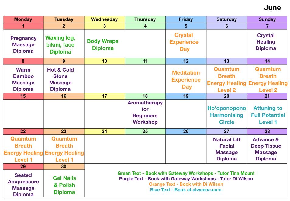 Class dates June 2020